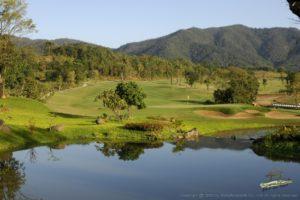 Hole 18, par-five, 558 yards. 23 November 2006. Chiangmai Highlands Golf and Spa Resort, Chiangmai, Thailand. Mandatory credit: Richard Castka/Sportpixgolf.com